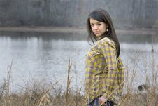 Free Woman In Front Of Lake Stock Photography - 13772472