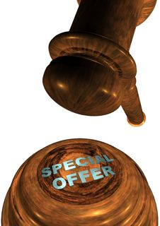 Free Gavel With SPECIAL OFFER Royalty Free Stock Photography - 13772727