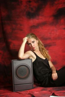 Free The Girl With A Subwoofer Stock Images - 13772884