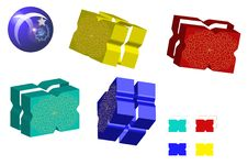 Free Colorful 3d Toy Bricks Royalty Free Stock Image - 13773576