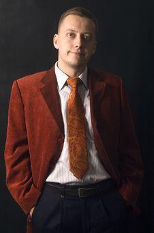 Elegant Young Businessman Stock Image