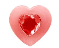 Free Heart Shape With Ruby Royalty Free Stock Image - 13773646