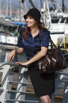 Free Pretty Woman In Harbor Village In Lifestyle Royalty Free Stock Image - 13773986