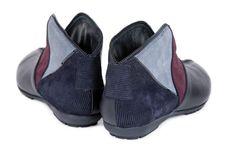 Free Pair Corduroy Shoe Type Behind Stock Photos - 13774013