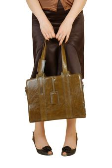 The Woman With A Bag Stock Photos