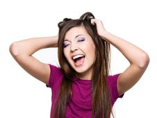 Free Young  Screaming Woman Royalty Free Stock Image - 13775546