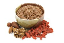Free Linseed In A Bowl Stock Photo - 13775590