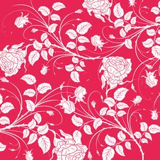 Free Red Flower Seamless Pattern Stock Photography - 13775702