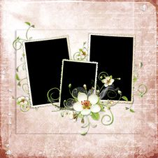 Free Beautiful Spring Frame With Apple Tree Flowers Stock Images - 13776264