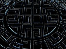 Round Labyrinth Royalty Free Stock Photography