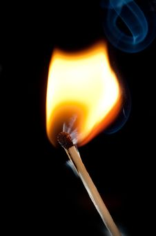 Burning Match Stock Images
