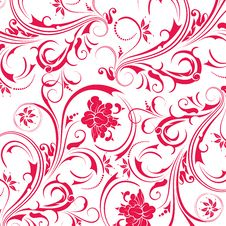 Free Red Flower Seamless Pattern Royalty Free Stock Photos - 13776558