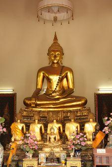 Buddha Statue Of Wat Pho Stock Image