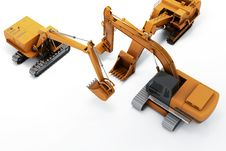 Diggers Royalty Free Stock Photography