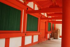Free Red And White Temple Walkway Royalty Free Stock Photos - 13776858