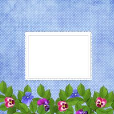 Free Card For The Holiday  With Flowers Royalty Free Stock Photography - 13777317