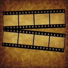 Grunge Graphic Abstr Background With Film Royalty Free Stock Image