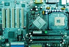 Free Close Up Mother Board Stock Photography - 13778502