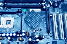 Free Close Up Mother Board Royalty Free Stock Images - 13778569