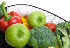 Basket Full Of Fresh Colorful Vegetables Royalty Free Stock Photo