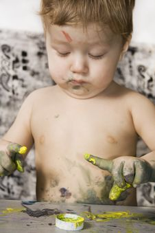 Free Dirty Boy Sketching. Stock Images - 13779464