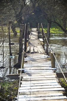 Free Old Pendulous Bridge Stock Image - 13779861