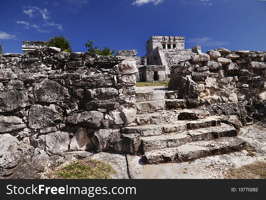 Tulum Ruins with temple