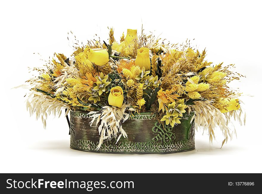 A floral centerpiece