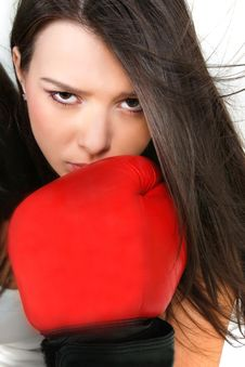 Free Beautiful Female Boxer Royalty Free Stock Images - 13780219