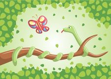 Free Snake On A Branch. Stock Photography - 13780382