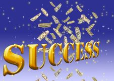Free Golden Success Text. Stock Photo - 13780810