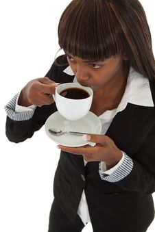 Free Sipping Coffee Royalty Free Stock Image - 13781956
