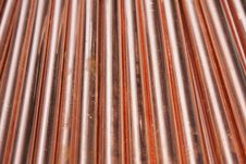 Copper Pipes Royalty Free Stock Photography