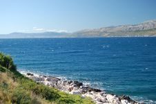 Picturesque View On Bracki Channel, Croatia Stock Photography
