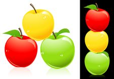Free Apples Three Different Colors Royalty Free Stock Image - 13782826