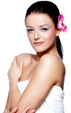 Free Portrait Of A Beautiful Brunette Woman Stock Photography - 13782952