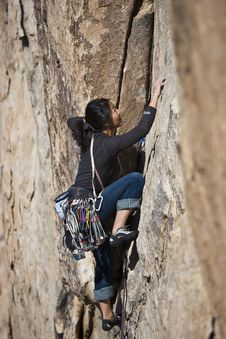 Free Female Rock Climber. Stock Photos - 13783153