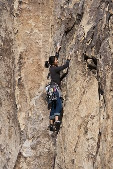 Free Female Rock Climber. Stock Photography - 13783202