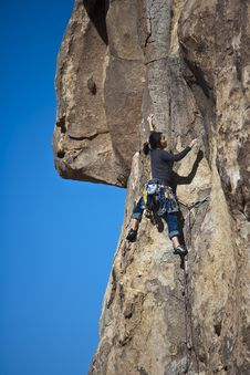 Free Female Rock Climber. Stock Images - 13783214