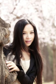 Beautiful Girl In Spring Stock Photography