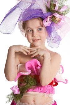Little Girl As Fairy Royalty Free Stock Photos