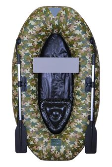 Free Inflatable Camouflage Boat Stock Photography - 13783692