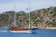 Yacht. Royalty Free Stock Photo