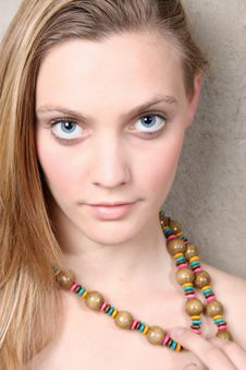 Model With Beads Royalty Free Stock Images