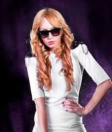 Elegant Woman With Sunglasses Stock Images