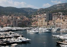 Free Luxurious Yachts In Monaco Stock Images - 13784254
