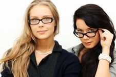 Free Two Young Womans, Stock Image - 13784331