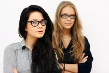 Free Two Young Womans, Royalty Free Stock Image - 13784336