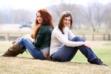 Free Two Young Women Stock Image - 13784401