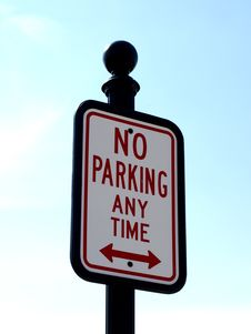 Free No Parking Any Time Stock Photos - 13784463